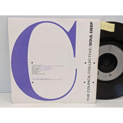 """THE COUNCIL COLLECTIVE Soul deep (part 1&2), 7"""" vinyl SINGLE. MINE1"""