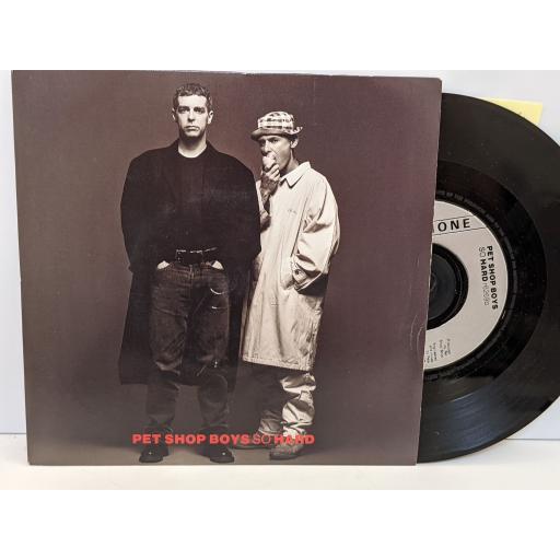 "PET SHOP BOYS So hard, It must be obvious, 7"" vinyl SINGLE. R6269"