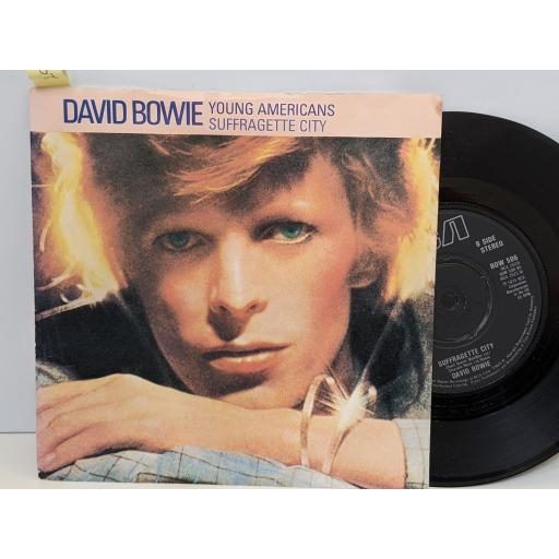 """DAVID BOWIE Young americans, Suffragette city, 7"""" vinyl SINGLE. BOW506"""