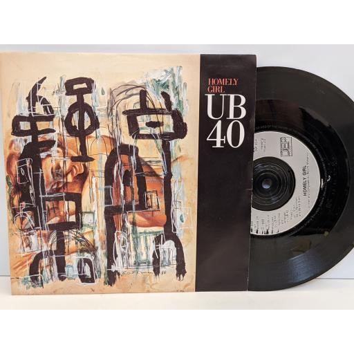 "UB40 Homely girl, Gator, 7"" vinyl SINGLE. DEP33"