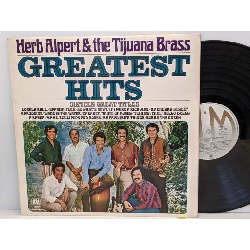 "HERB ALPERT AND THE TIJUANA BRASS Greatest hits, 12"" vinyl LP. AMLS980"