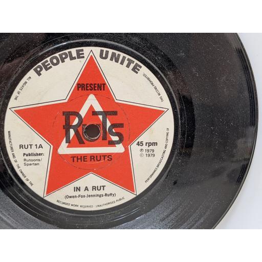 """THE RUTS In a rut, H-eyes, 7"""" vinyl SINGLE. RUT1"""