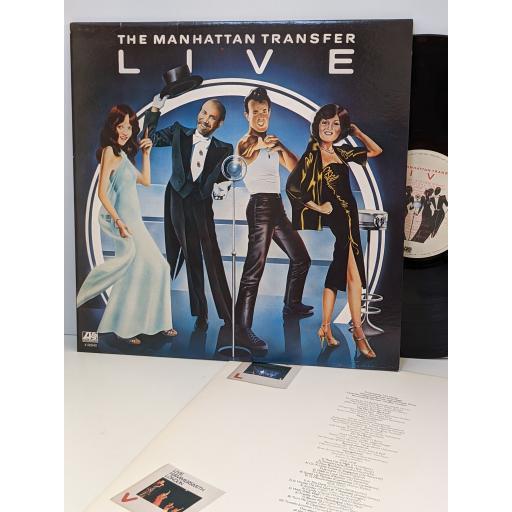 "THE MANHATTAN TRANSFER Live, 12"" vinyl LP. K50540"