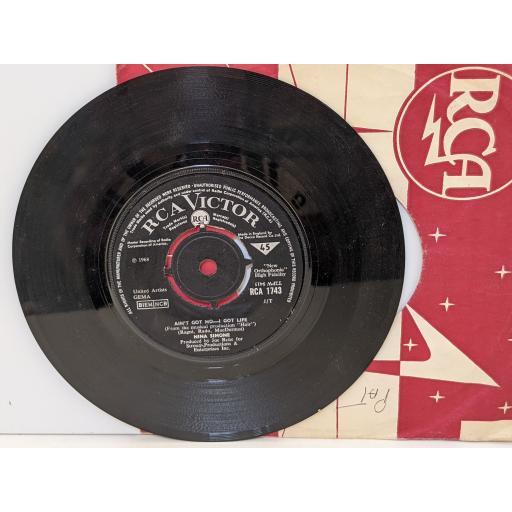 """NINA SIMONE Do what you gotta do, Ain;t got no-i got life, 7"""" vinyl SINGLE. RCA1743"""