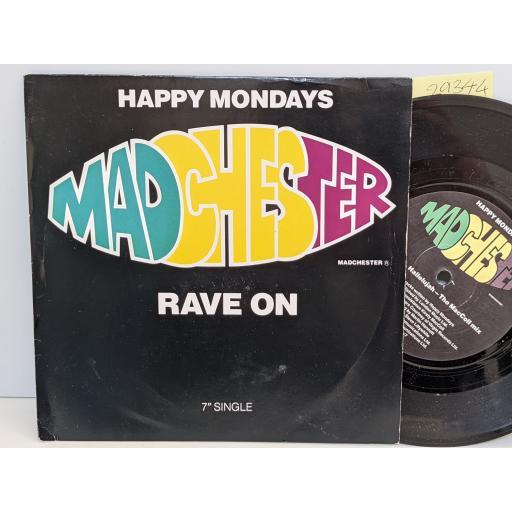 "HAPPY MONDAYS Madchester rave on, 7"" vinyl SINGLE. FAC242R7"