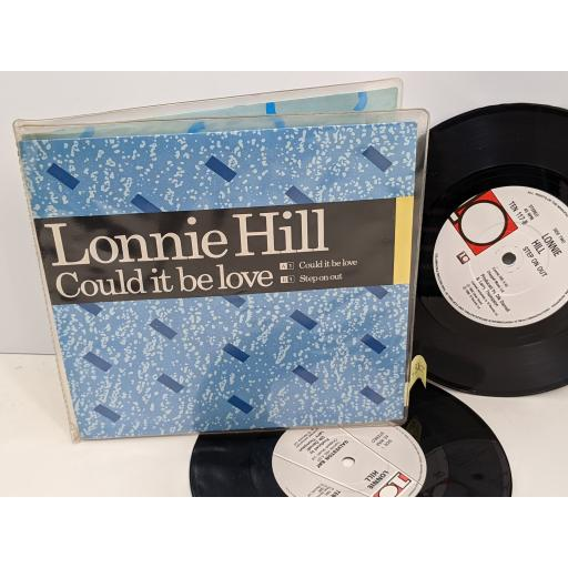 """LONNIE HILL Galveston bay, My sweet love, C ould it be love, Step on out, 2x 7"""" vinyl SINGLE. TEN111"""