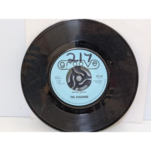 """THE EVASIONS Wikka wrap, All wrapped up, 7"""" vinyl SINGLE. GP107"""