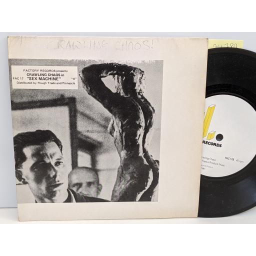 "CRAWLING CHAOS Sex machine, Berlin, 7"" vinyl SINGLE. FAC17"