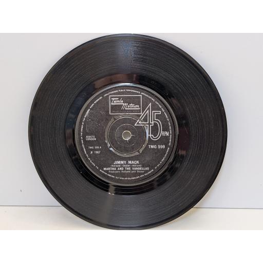 "MARTHA AND THE VANDELLAS Jimmy mack, Third finger left hand, 7"" vinyl SINGLE. TMG599"