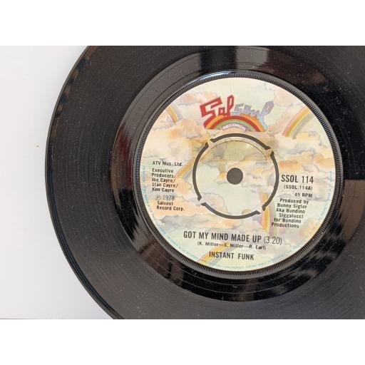 "INSTANT FUNK Got my mind made up, Wide world of sports, 7"" vinyl SINGLE. SSOL114"