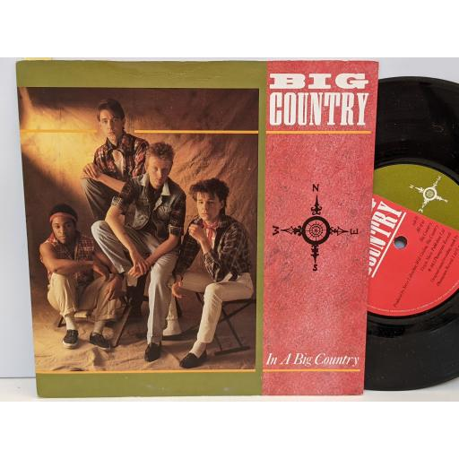 """BIG COUNTRY In a big country, All of us, 7"""" vinyl SINGLE. COUNT3"""