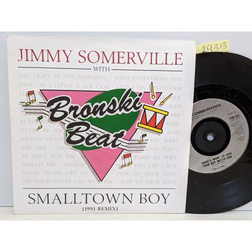 """JIMMY SOMERVILLE WITH BRONSKI BEAT Smalltown boy / THE COMMUNARDS There's more to love than boy meets girl, 7"""" vinyl SINGLE. LON287"""