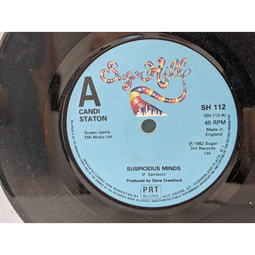 """CANDI STATION Suspicious minds, Let's love and be free, 7"""" vinyl SINGLE. SH112"""