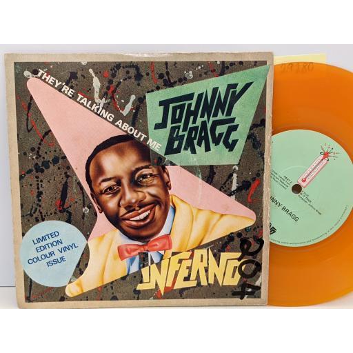 """JOHNNY BRAGG They're talking about me, Is it true, 7"""" vinyl SINGLE. HEAT2"""