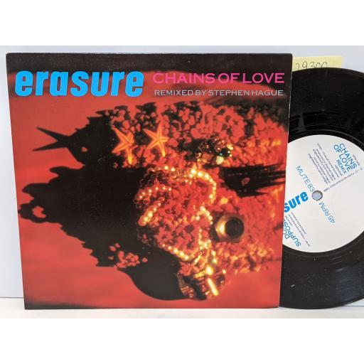 "ERASURE Chains of love, Don't suppose, 7"" vinyl SINGLE. MUTE83"