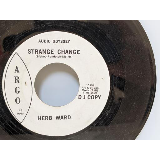 """HERB WARD Strange change, Why do you want me to leave, 7"""" vinyl SINGLE. 13954"""