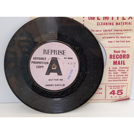 "SAMMY DAVIS JR Not for me, Bang! bang!, 7"" vinyl SINGLE. R20289"