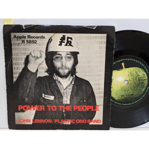 """JOHN LENNON/PLASTIC ONO BAND Power to the people, Open your box, 7"""" vinyl SINGLE. R5892"""