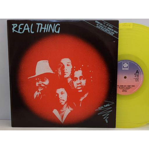 """REAL THING Boogie down (get funky now), 12"""" vinyl SINGLE. 12P109"""