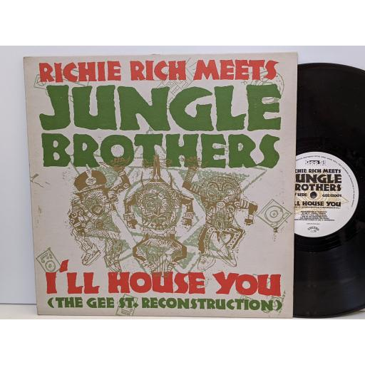 """RICHIE RICH MEETS JUNGLE BROTHER I'll house you, Straight out the jungle, 12 """"vinyl SINGLE. GEE12003"""