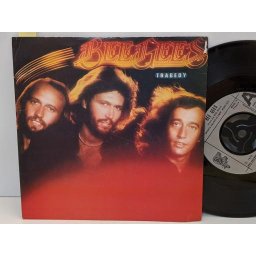 """BEE GEES Tragedy, Until, 7"""" vinyl SINGLE. RSO27"""