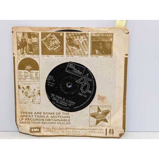 """SMOKEY ROBINSON AND THE MIRACLES The tears of a clown, Who's gonna take the blame, 7"""" vinyl SINGLE. TMG745"""
