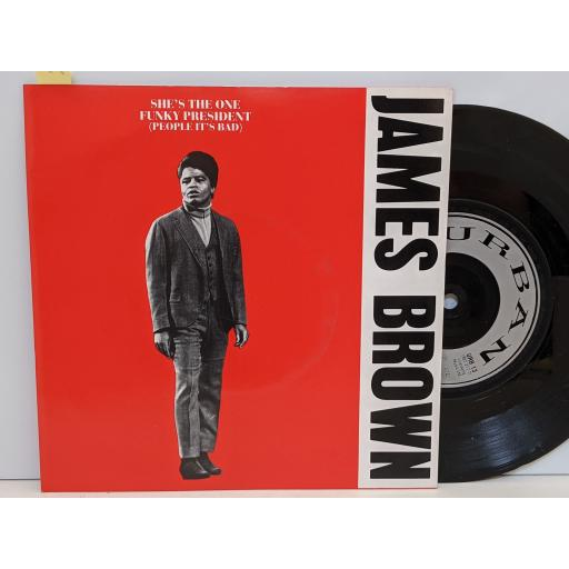 """JAMES BROWN She's the one, Funky president, 7"""" vinyl SINGLE. URB13"""
