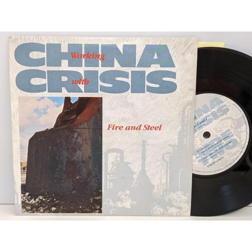 """CHINA CRISIS Working with fire and steel, Dockland, Forever i and i, 7"""" vinyl SINGLE. VS620"""